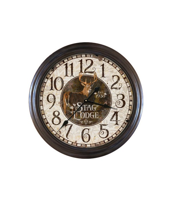 Clock 26 in. - Stag Lodge