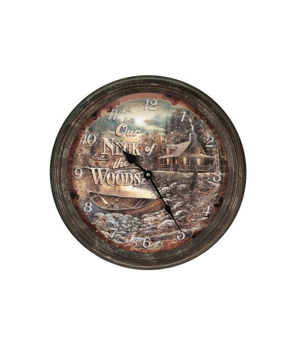 Clock 15 in. - Neck of Woods (Rusted)