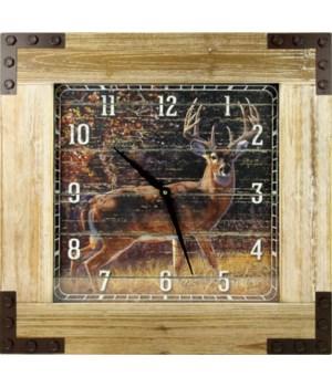 Clock Wood Frame 24 in. - Deer