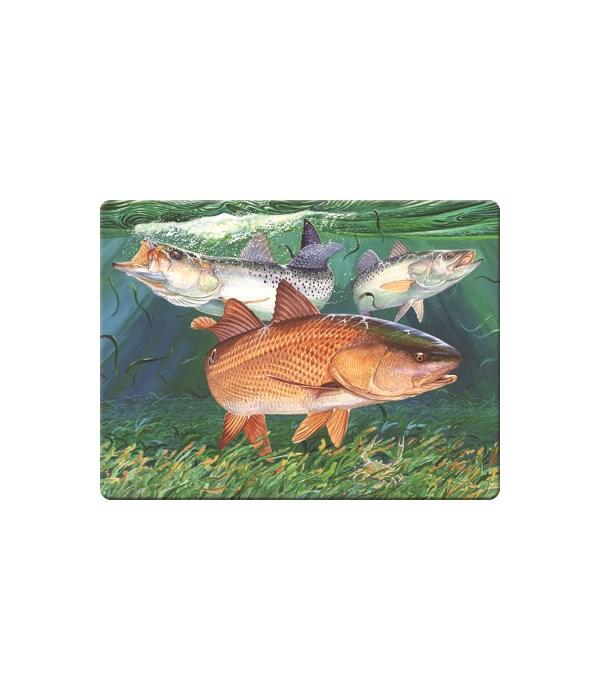 Cutting Board 12in x 16in - Redfish