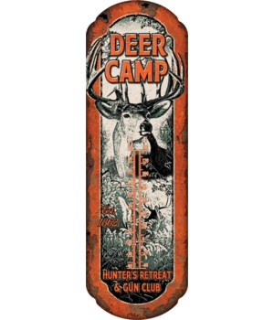 Tin Thermometer - Deer Camp 5 x 17 in.