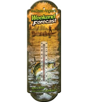 Tin Thermometer - Weekend Forecast 5 x 17 in.