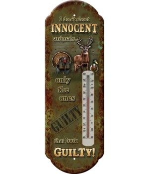 Tin Thermometer - Innocent Annimals 5 x 17 in.