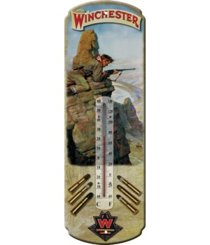 Tin Thermometer - Winchester Hunt 5 x 17 in.