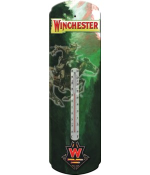 Tin Thermometer - Winchester Rider 5 x 17 in.