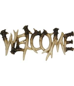 Welcome Plaque - Deer Antler