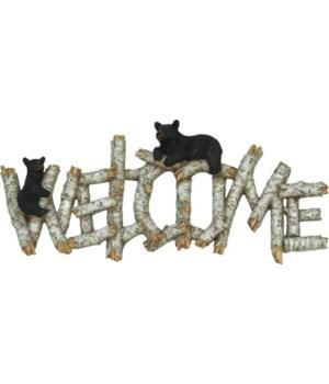 Welcome Plaque - Birch Bear in.