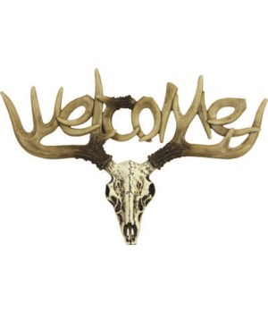 Welcome Sign - Small Euro Deer 13 in.