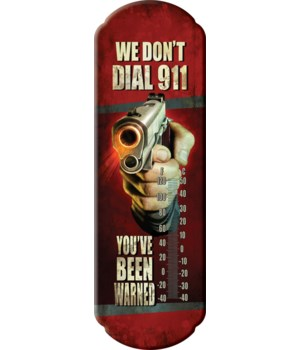 Tin Thermometer - Dial 911 5 x 17 in.