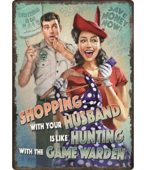 Tin Sign 12in x 17in - Game Warden