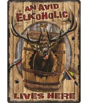 Tin Sign 12in x 17in - Elkoholic