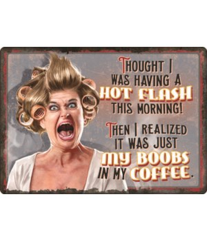 Tin Sign 12in x 17in - Hot Flashes
