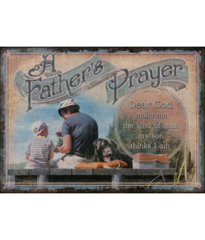 Tin Sign 12in x 17in - Fathers Prayer