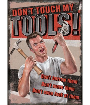 Tin Sign 12in x 17in - Tool Rules
