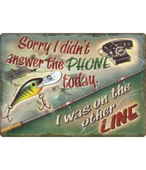 Tin Sign 12in x 17in - On The Other Line