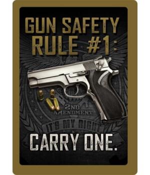 Tin Sign 12in x 17in - Gun Safety