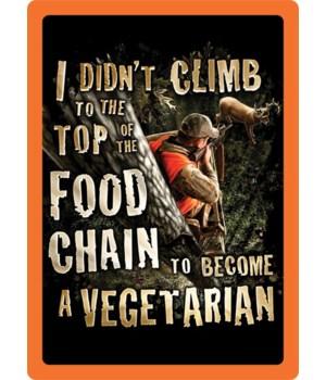 Tin Sign 12in x 17in - Vegetarian Tin