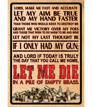 Tin Sign 12in x 17in - Lords Prayer