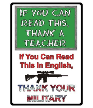 Tin Sign 12in x 17in - If You Can Read