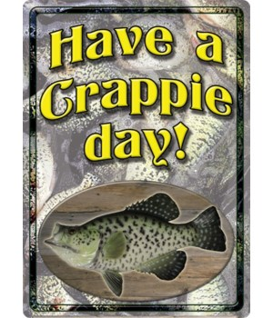 Tin Sign 12in x 17in - Crappie