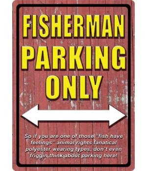 N/A - Tin Sign Fisherman Parking