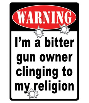 Tin Sign 12in x 17in - Warning Gun Owner