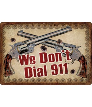 Tin Sign 12in x 17in - Dial 911