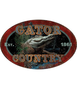Tin Sign 12in x 17in - Gator Country