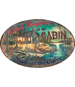 Oval Tin Sign 12in x 17in - What Happens