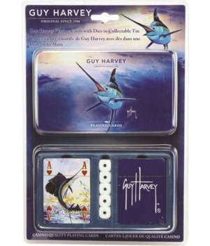 Playing Cards and Dice in Tin - Guy Harvey