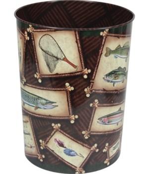 Waste Basket - Fishing Theme10.5 in.