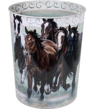 Waste Basket - Horse Theme10.5 in.
