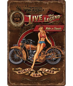 Tin Sign 12in x 17in - Live the Legend
