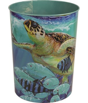 Waste Basket - Guy Harvey Sea Turtle10.5 in.