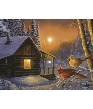 LED Art 16in x 12in - Cabin Cardinals