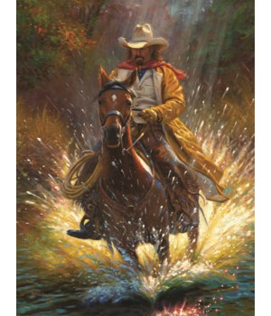 LED Art 16in x 12in - Cowboy