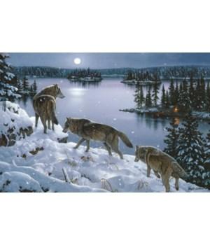 LED Art 24in x 16in - Nite Wolves