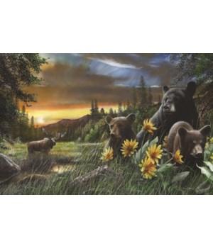 LED Art 24in x 16in - Bears Moose