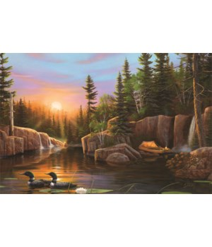 LED Art 24in x 16in - Evening Loon