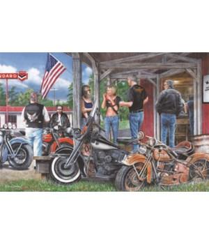 LED Art 24in x 16in - Rusty Motorcycle