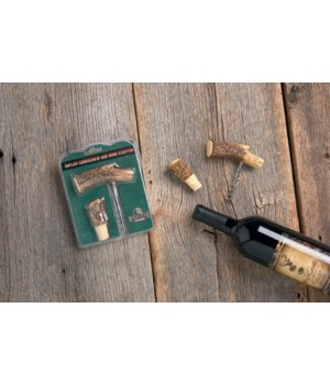 Cork Screw and Bottle Stop - Antler