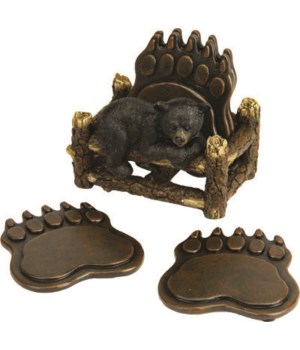 Coaster Set - Bear Paw