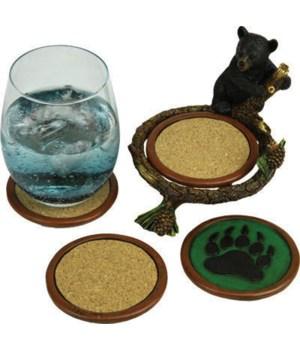 Coaster 4-Piece Set - Baby Bear Pinetree