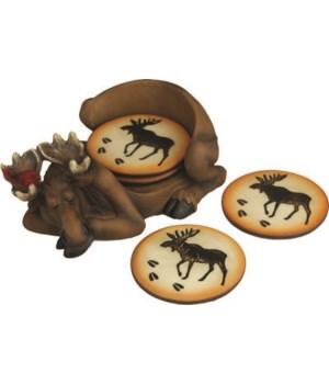 Coaster Set - Moose