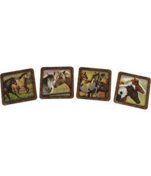 Coaster 4-Piece Set - Horse