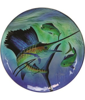 Platter 12in - Guy Harvey Sailfish