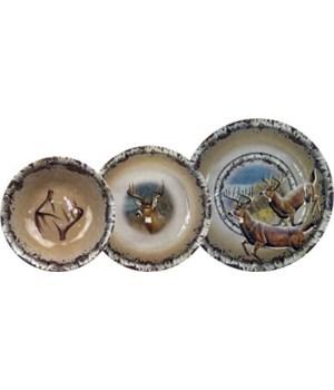 Dinnerware Set 12-Pc Melamine - Deer