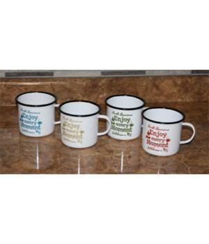Coffee Cup Set 4-Piece - Porcelain Enamel 22 oz.