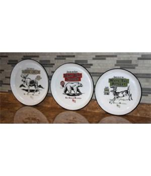 Round Platters 3-Piece - Porcelain Enamel 12, 13.5, 14.5 in.