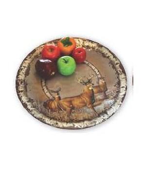 Platter Round Malamine 17in - Deer